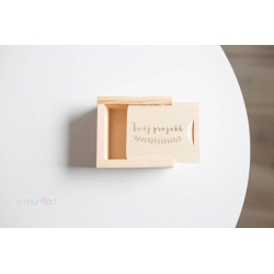 Drewniane pudełko na pendrive z Twoim grawerem