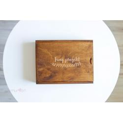 Rustykalne pudełko 15x23 z Twoim grawerem
