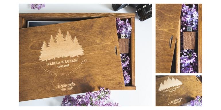 Pudełko drewniane z grawerem