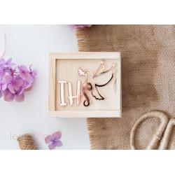 Drewniane pudełko na pendrive GLOSSY