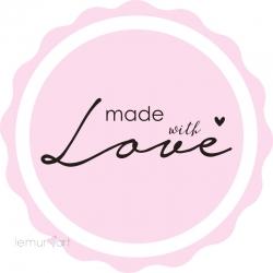 "Naklejka ""Made with Love"""