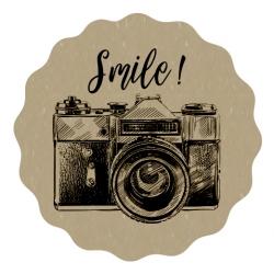 """Naklejki kraft """"Smile"""""""