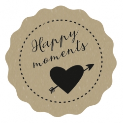 "Naklejki kraft ""Happy Moments"""