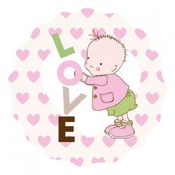"""Naklejki """"Baby LOVE"""""""