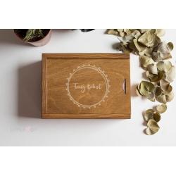 Rustykalne pudełko 10x15 i Twoim grawerem
