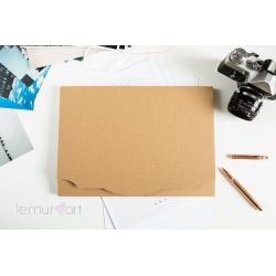 Teczka na zdjęcia/fotoksiązkę A4 (NATURALNA)