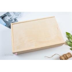 Pudełko drewniane 15x23 z przegródką