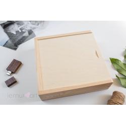 Pudełko drewniane 10x15 z przegródką