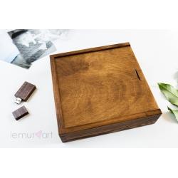 Rustykalne pudełko 10x15 z przegródką