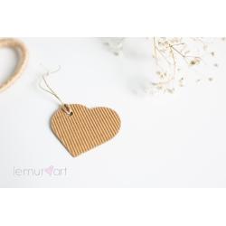 Etykietki w kształcie serca KARBOWANE