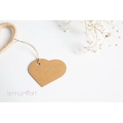 Etykietki w kształcie serca NATURALNE