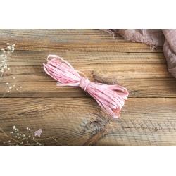 Różowy sznurek typu RAFIA