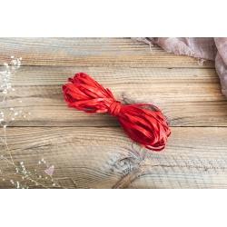 Czerwony sznurek typu RAFIA