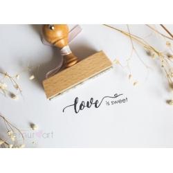 """Stempel """"Love is sweet"""""""