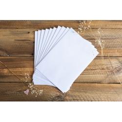 Koperty w białym kolorze 10szt.